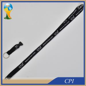 Custom Embroidered Black Soft Lanyard for Key Holder pictures & photos