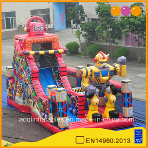 Kids Slides Inflatables Red Robot Inflatabble Slides with Printing (AQ01746) pictures & photos
