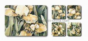 Square Flower Printing Cork Coaster for Promotion (CC18) pictures & photos
