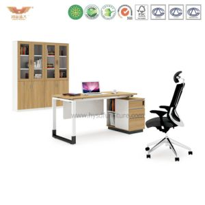 Office Manager Melamine Office Desk with L Shape Return (H90-0105) pictures & photos