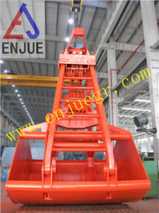 Four Ropes Mechanical Clamshell Bulk Materials Grab Bucket pictures & photos
