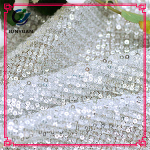 100% Polyester Lace Mesh Fabric for Fashion Clothing pictures & photos