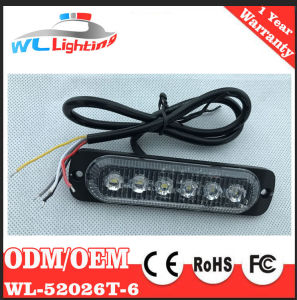 Super Slim Surface Mount Warning Light 6 LED Flashing Lamp pictures & photos