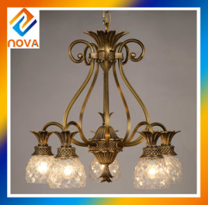 Broze Chandelier with 5 Heads for Hotel pictures & photos
