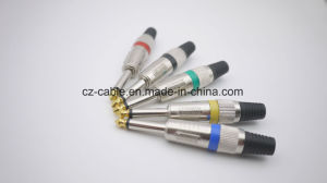 6.35mm Mono Plug with Gold Plated Tip, Metal Plug pictures & photos