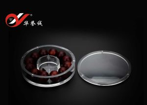 Round Shape Bracelet Display Plastic Box with Separate Magnet Cover pictures & photos