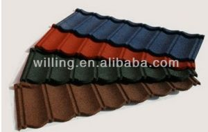Colorful Stone Coated Steel Roofing Sheeting in Stock pictures & photos