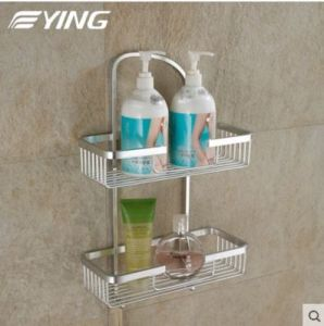 Space Aluminium Series Square Double Shelf Bathroom Shower Shelf