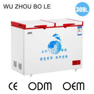 Single Temperature Top Open Double Door Chest Freezer for Sale
