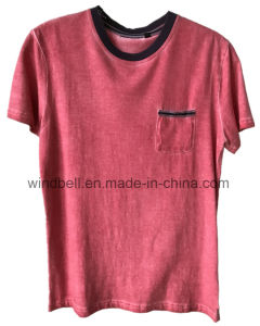 Plain T-Shirt for Men with Dirty Wash pictures & photos