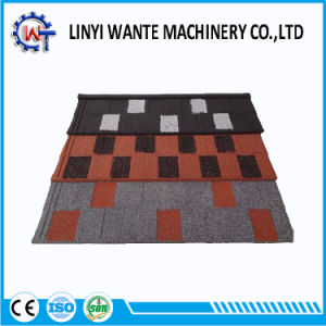 Heat Resistance Colorful Stone Coated Metal Shingle Roof Tile pictures & photos