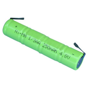 Flashlight Battery, NiMH battery (1/3AA, 4.8V, 250mAh)