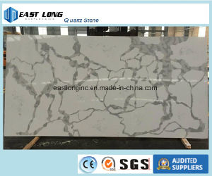 Calacatta Quartz Stone Slab for Countertops/ Table Tops pictures & photos