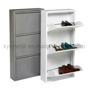 High-End Fashion Style 3-Drawer Metal Shoe Cabinet pictures & photos