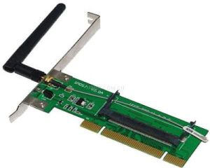 MINI PCI to PCI Adapter Card with Antenna