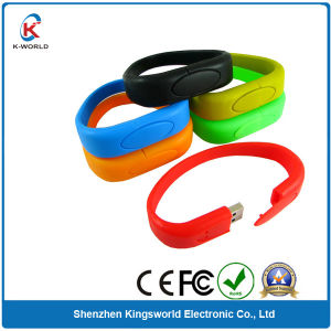 Top Quality Silicon Bracelet Wristband USB Flash Disk (KW-0204) pictures & photos