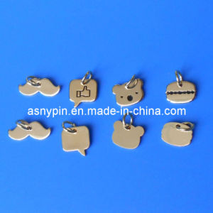 Customized Die Cut Cute Tags, Iron Metal Tags, Small Metal Charms pictures & photos