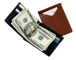 Leather Money Clip Wallets (MC2022)