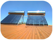 Non-Pressure Vacuum Tube Solar Water Heater for Hot Area