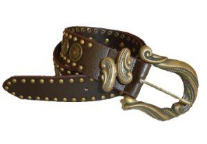 Fashion Jurable Rivet Decorative Genuine Leather Man Belt