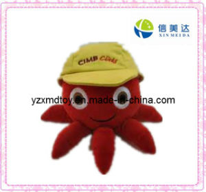 Red Plush Octopus Soft Toy with Cap pictures & photos