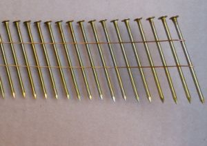 2.3mm X 50mm Smooth Shank Coil Nail with Yellow Coating for Pallets pictures & photos