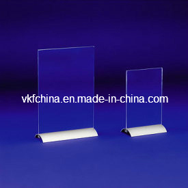 2 Parts Acrylic Display Menu Card Holder