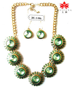 Sunflower Shape Jewelry Necklace/ Antique Pendant Necklace &Ring Earring Sets