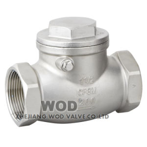 Threaded Swing Check Valve 200psi pictures & photos