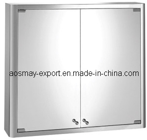 Stainless Steel Mirror Cabinet with One Door (ASM-375B)