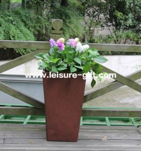 Fo-221 Tapered Square Fiberglass Garden Planter pictures & photos