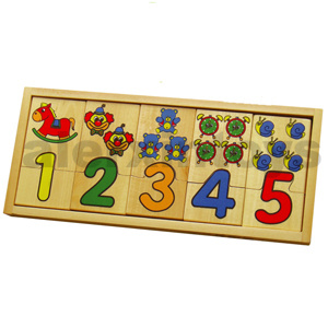 Wooden Number Puzzle for Education pictures & photos