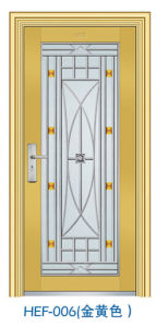 Hef-006 Fluor-Carbon Painting Stainless Steel Door pictures & photos