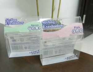 Clear PVC box for eye shadow (plastic folding package) pictures & photos