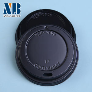 Hot Cup Black Plastic Cup Lids