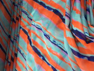 Beautiful Printing High Quality Polyester Silky Tencel Garment Fabric