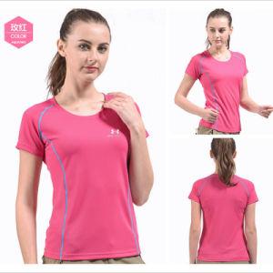 Vintage Slim Fit Irregular Floral Super Light Fluorescent Sport T-Shirt pictures & photos