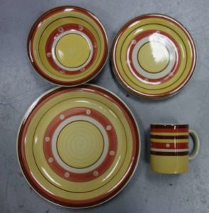 16PCS Hand Painted Stoneware Dinnerware Set (WSY1018S)