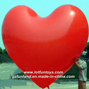 Advertising Inflatable: Red Heart Helium Promotion Air Sky Balloon