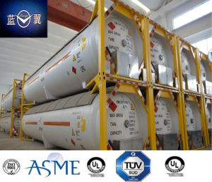 High Quality 51000L 40FT 22 Bar Pressure Carbon Steel LPG Tank Container Approved by ASME U2, GB with Valves