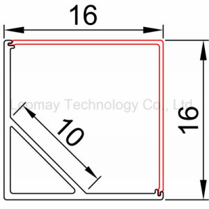 Inner Size 10mm Aluminum LED Profile For Conner With LED Strip pictures & photos