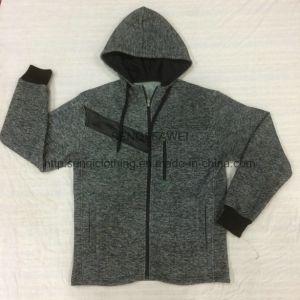 Men′s Wear Loop Gagt Knit Chevron Fleece  Stand Collar Coat in Sport Clothes  Fw-8761 pictures & photos