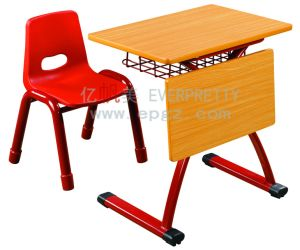High Quality Wooen Single Desk and Chair (SF-08K) pictures & photos
