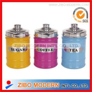 Colors Spraying Glass Storage Jar with Aluminum Cover Wholesale pictures & photos