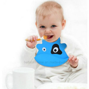 Eco-Friendly Cleaning Silicone Baby Bibs pictures & photos