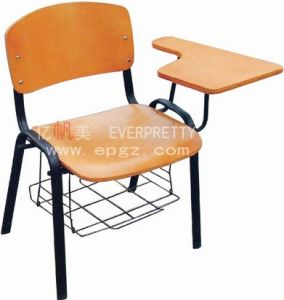 Educational Furniture School Chair with Book Net and Writiing Pad pictures & photos