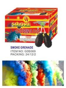 Color Smoke Grenade Fireworks with Fuse pictures & photos