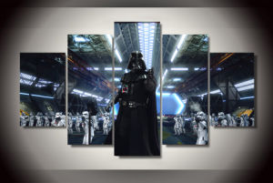 HD Printed Star Wars Movies Painting on Canvas Room Decoration Print Poster Picture Canvas Mc-124 pictures & photos