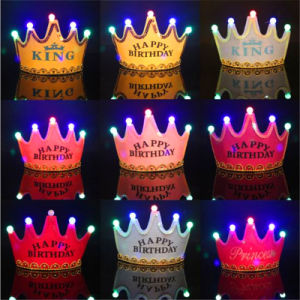 Happy Birthday LED Light up Flashing Kids Tiara Crown Headband pictures & photos
