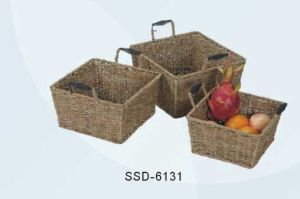 Baskets Made From Seagrass in Natural Color (SSD-6131)